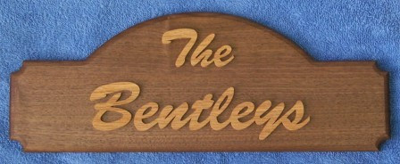 Indoor family name sign