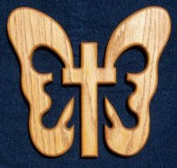 large Legend of the butterfly cross