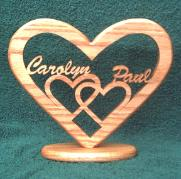 wood nook personalized love heart wedding plage anniversary plaque